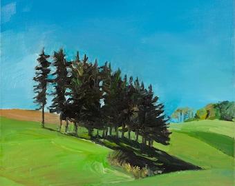 Pines #1 original landscape painting
