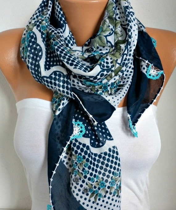 Spring Floral Scarf Oya Yemeni Cotton Cowl Easter Shawl Mom Bridesmaid Gift Bridal Accessories Gift Ideas For Her Women Fashion Accessories