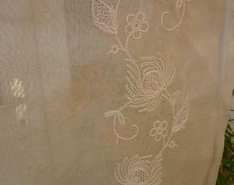 French cotton embroidered un used voiles