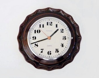 Vintage Ceramic Wall Clock from German Kienzle Made in Germany