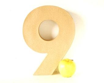 DIY Paper Mache Number Nine 9 or Six 6 (12 inches tall) - Ready to Decorate Blank Number | Home Decor | DIY Wedding Table Number