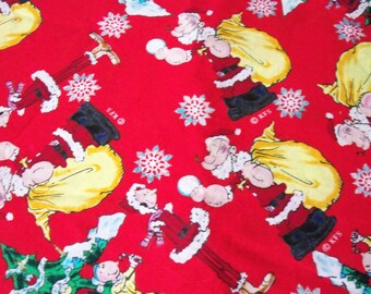 Popeye Fabric Olive Oyle Christmas Very Rare & HTF ByThe Fat Quarter New BTFQ