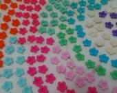 150 flowers -50 each color (light pink, light blue and light purple)