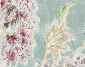Pair of Custom Curtains or Drapes, any size available, Millie Tutti Fruti Floral Drapery Fabric by Braemore, flowers in teal, blue, gray,