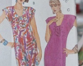 UNCUT McCall's Easy Fitted Dress with Gathered Bodice & Tied Front 2841 Sewing Pattern Size 12 14 16
