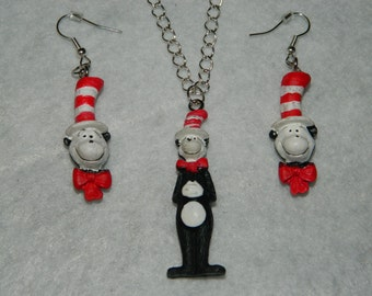 Dr seuss earring etsy for Cat in the hat jewelry