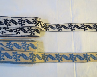 6 Yards Vintage Woven Cotton Trim From Spain
