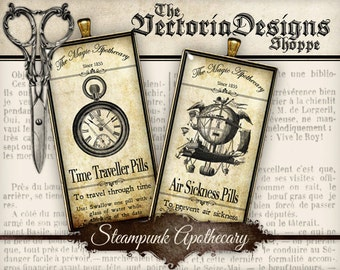 Steampunk Apothecary Images - Domino - VDDOST0101
