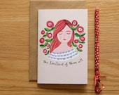 Illustrated 'Loveliest of them all' Card
