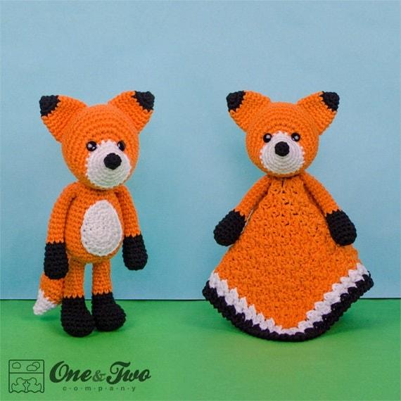 Flynn the Fox Lovey and Amigurumi Set  - PDF Crochet Pattern