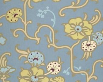 gypsy caravan fabric, amy butler, velvet vine - stainless, 1 yard