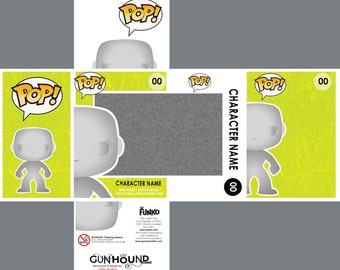 PHOTOSHOP files for custom Funko Pop! Vinyl toy packaging. Layered and labelled with a complete file for creating your own figure as well.