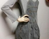 Vintage 80s Denim Shortalls/Overalls Shorts - Sz  X-Small
