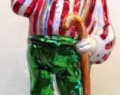 Christopher RADKO Soft Shoe Santa Christmas Ornament