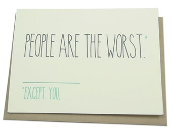 Funny Anniversary Card, Love, For Boyfriend, Girlfriend, Husband, Wife, Valentine's Day, Introvert, Antisocial, People Are the Worst, Friend