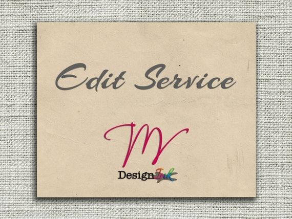 Custom Listing - Edit Service