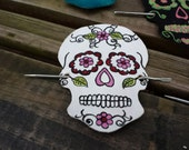 Sugar Skull Hair Ornament...