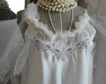 Lingerie with tulle, mori girl,  romantic gown