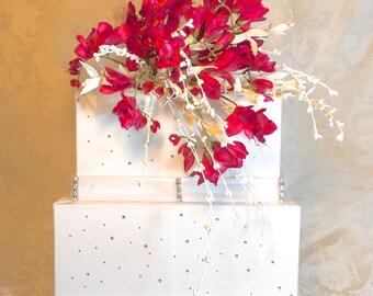 Wedding Card Box Orchid Like Freesias Wedding Card Holder Unique Elegant Wedding Card Box Custom Box Handmade Gift Card Box Wedding Gift Box