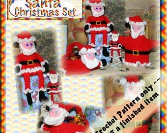 PDF Crochet Pattern Santa Christmas Set