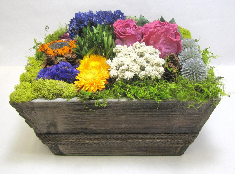 Contemporary Floral Arrangement Dried Flowers Floral