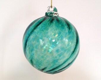 Glass Ornament - Teal