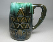 blue mountain pottery of canada large / tall mug for the Canada Centennial  1867 - 1967 .