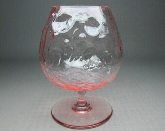 """bryce el rancho pink """" snifter """" shaped goblet or vase"""