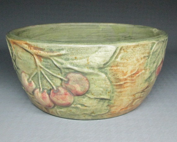 Vintage Weller Woodcraft Art Pottery Bowl With By Jumpinacrater