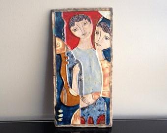 Ruth Faktor ( J Ruth ) Ceramic Plaque Tile