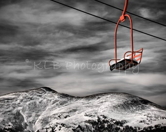 Copper Mountain Chairlift - Colorado Scenic and Nature Photography, winter, snow, ski