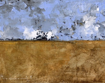 A Landscape Windswept — Original Oil Painting, Landscape Oil Painting, Abstract Landscape, Original Painting, Abstract Painting, 5 x 7