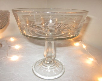 Antique open compote wedding dessert compote/candy buffet/Floating Candle display,charming,Shabby Chic,tabletop