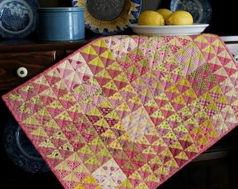 REDUCED! Pink Lemonade Petite Quilt