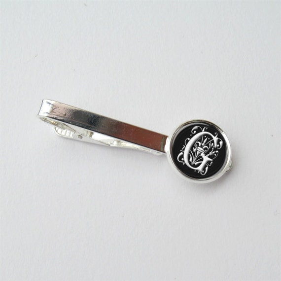 personalized tie clip monogram tie clip custom mens