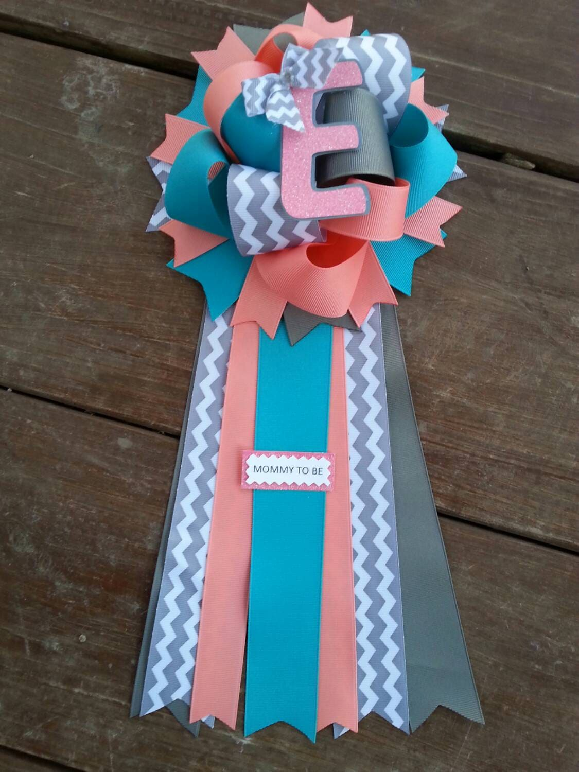teal baby shower mumbaby shower corsage by bonbow on etsy