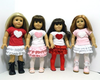 Valentine's Day Outfits for American Girl and Bitty Baby
