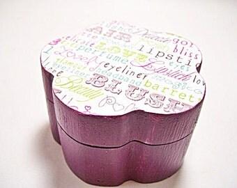 Lipstick Love Trinket Box Decoupage
