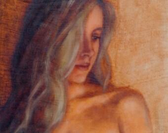 Self Portrait of an Artist. Oil on Birch
