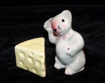 Salt Pepper Mouse Cheese Salt Pepper Shakers