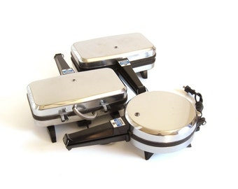 Vitantonio French Sandwich Chef 650 Shell Shaped Grill Press or Pizzelle Maker