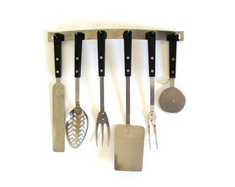 Ekco Forge Kitchen Utensils Stainless Steel Spatula Icing Spreader Meat Fork, Ekco Eterna Pizza Cutter