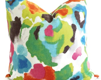 Impressionist Floral Decorative Pillow Cover, Square, Eurosham or lumbar pillow, accent pillow, throw pillow, pillow case, watercolor floral