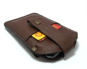 Practical and convenient handmade case for IPhone 6 sleeve wallet with money clip from cowhide leather card holder free initials