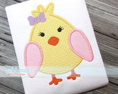 Easter Chick Girl Appliqué Design Machine Embroidery INSTANT DOWNLOAD
