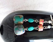 Fun colorful Polymer Clay beaded Dangles