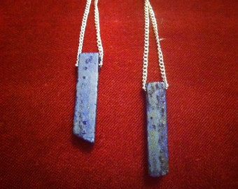 Hanging Lapis Earrings