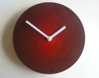Objectify Red Ovals Wall Clock