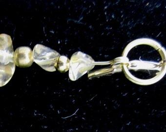 Earrings J Citrine gold leverbacks