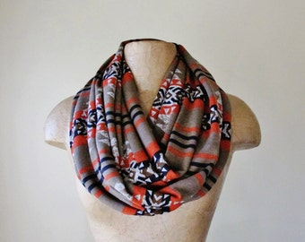 SOUTHWESTERN Infinity Scarf - Fashion Scarf - Southwest Circle Scarf - Lightweight Sweater Scarf - Paprika, Taupe, Black Tube Scarf